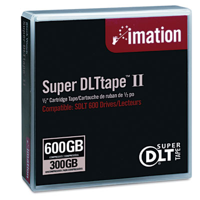 "1/2"" Super DLT II Cartridge, 2066ft, 300GB Native/600GB Comp. Ca"