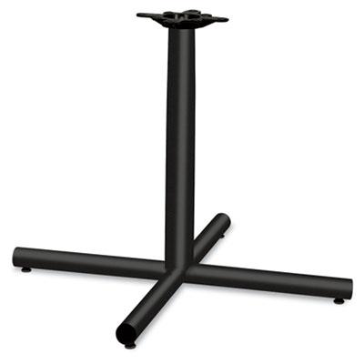 Single Column Steel Base, 36w x 36d x 27-7/8h, Black