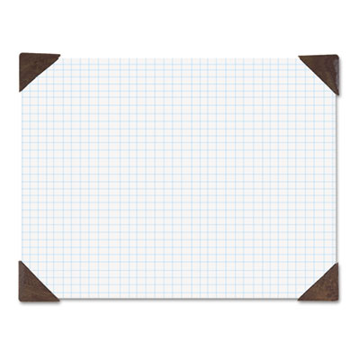 Compact Doodle Desk Pad, Ruled Pad, 18 1/2 x 13, White/Blue