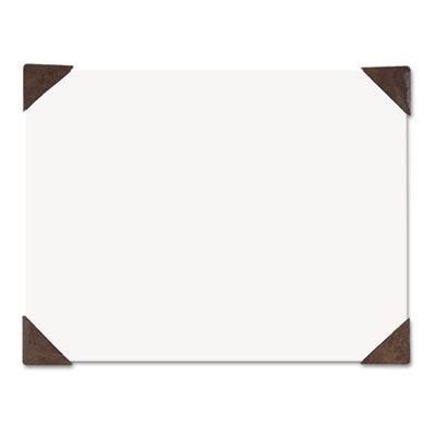 Compact Doodle Desk Pad, 18 1/2 x 13, White/Brown