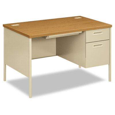 Metro Classic Right Pedestal Desk, 48w x 30d x 29-1/2h, Harvest/