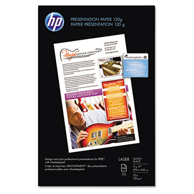 Color Laser Presentation Paper, 95 Brightness, 32lb, 11 x 17, Wh