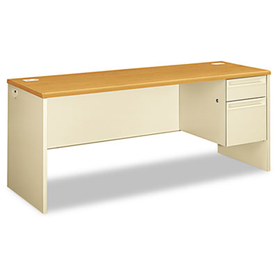 38000 Series Right Pedestal Credenza, 72w x 24d x 29-1/2h, Harve