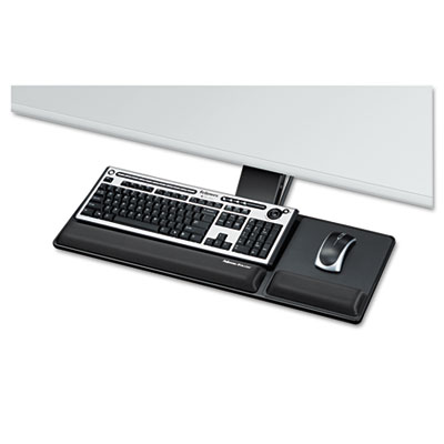 Designer Suites Compact Keyboard Tray, 19w x 9-1/2d, Black