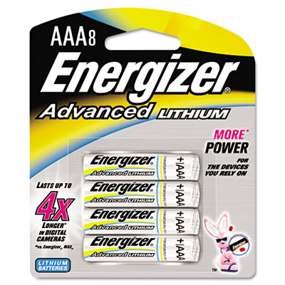 Advanced Lithium Batteries, AAA, 8/Pack