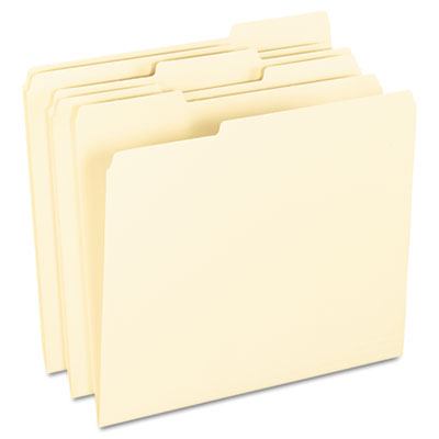 Anti Mold and Mildew File Folders, 1/3 Cut Top Tab, Letter, Mani