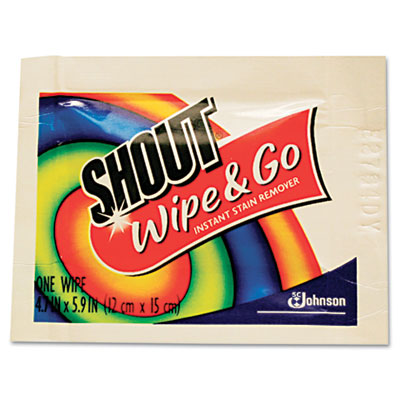 Wipe & Go Instant Stain Remover, 6 x 6, 80 Packets/Carton