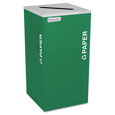 Kaleidoscope Collection Recycling Receptacle, 24gal, Emerald Gre