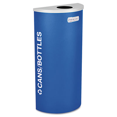 Kaleidoscope Collection Recycling Receptacle, 8gal, Royal Blue