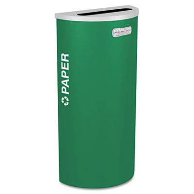 Kaleidoscope Collection Recycling Receptacle, 8gal, Emerald Gree