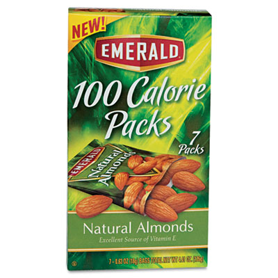 100 Calorie Pack All Natural Almonds, .63oz Packs, 7/Box