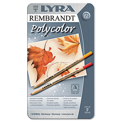Artist Colored Woodcase Pencils, Assorted, 12 per Pack