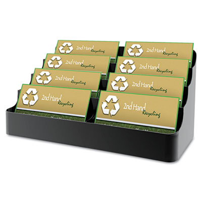 Recycled Business Card Holder, Holds 450 2 x 3 1/2 Cards, Eight-