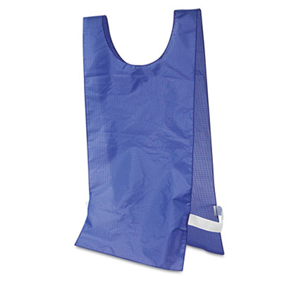 Heavyweight Pinnies, Nylon, One Size, Blue, 12/Box