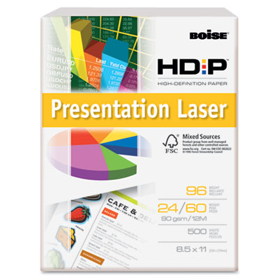 HD:P Presentation Laser Paper, 96 Brightness, 24lb, 8-1/2 x 11,