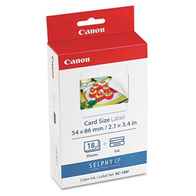 "7741A001 Ink Cartridge/Label Set, 18 Sheets, 2 1/10"" x 3 2/5"""