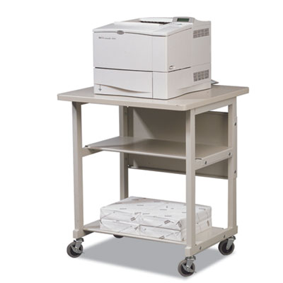 Heavy-Duty Mobile Laser Printer Stand, Three-Shelf, 27w x 25d x