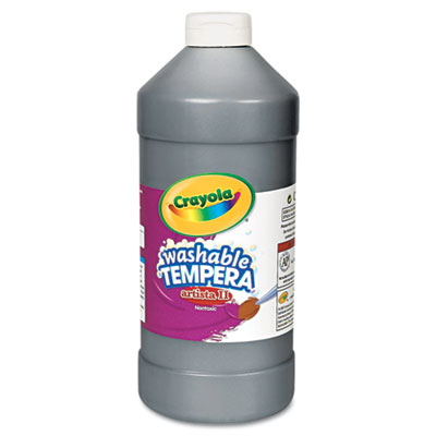 Artista II Washable Tempera Paint, Black, 32 oz