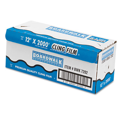 "PVC Food Wrap Film, 12"" x 2000ft Roll"