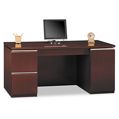 "66""W Double Pedestal Kneespace Credenza (F/F,D) Milano 2, Harves"