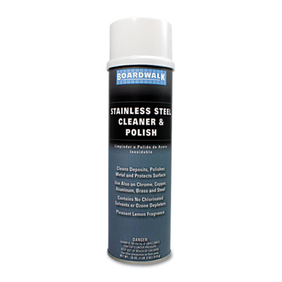 Stainless Steel Cleaner & Polish, Lemon, 18oz Aerosol
