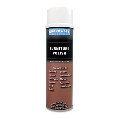 Furniture Polish, Lemon, 19oz Aerosol, 12/Carton