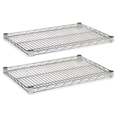 Industrial Wire Shelving Extra Wire Shelves, 24w x 18d, Silver,