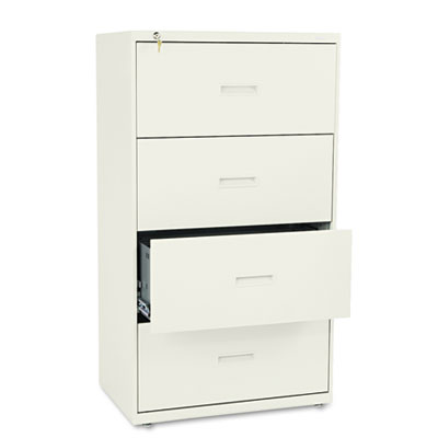 400 Series Four-Drawer Lateral File, 30w x 19-1/4d x 53-1/4h, Pu