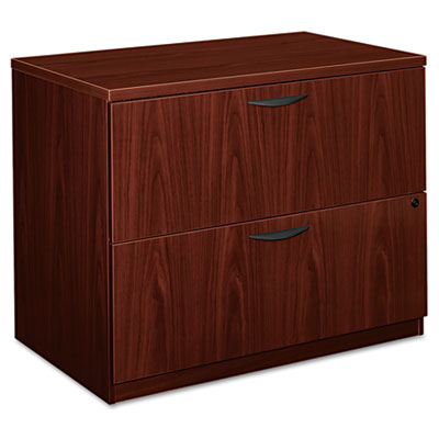 BL Laminate Two-Drawer Lateral File, 35-1/2w x 22d x 29h, Mahoga