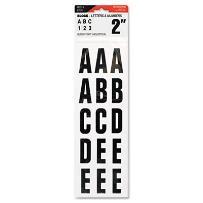 "Letters, Numbers & Symbols, Adhesive, 2"", Black"