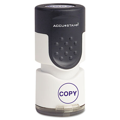 "Accustamp Pre-Inked Round Stamp with Microban, COPY, 5/8"" dia, B"