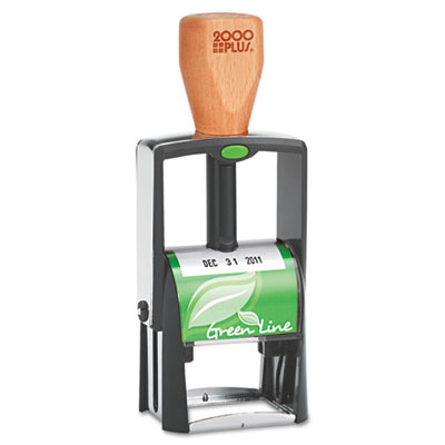 2000 PLUS Green Line Self-Inking Heavy Duty Stamp, 1 1/4 x 5/8,