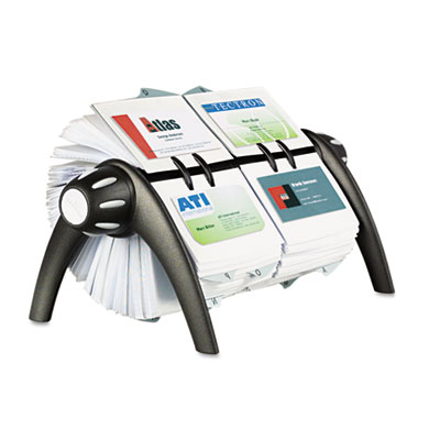 VISIFIX Duo Rotary Business/Address File Holds 800 4 1/8 x 2 7/8