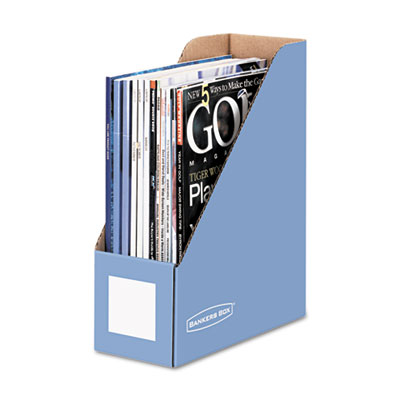 Decorative Magazine File, 4 x 9 x 11 1/2, Cornflower Blue