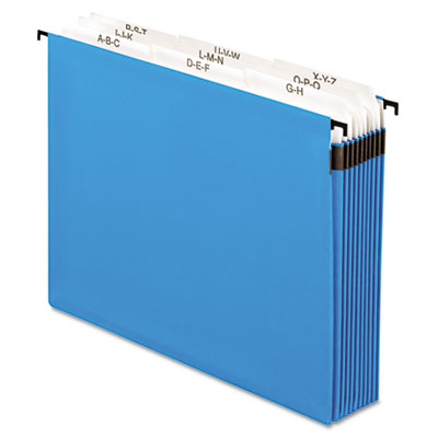 Nine Section, 5 1/4 Inch Expansion Hanging File, Tabs and Labels