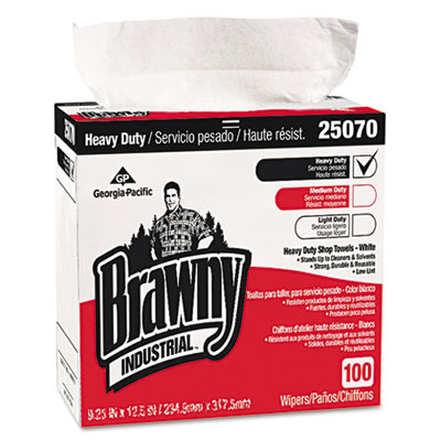 Heavy-Duty Shop Towels, 9 1/8 x 16 1/2, 100/Box, 5 Boxes/Carton