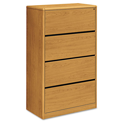 10700 Series Four-Drawer Lateral File, 36w x 20d x 59-1/8h, Harv