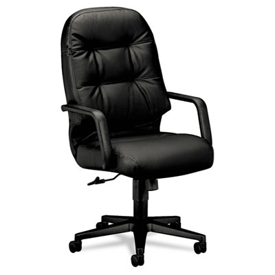 2090 Pillow-Soft Series Executive Leather High-Back Swivel/Tilt