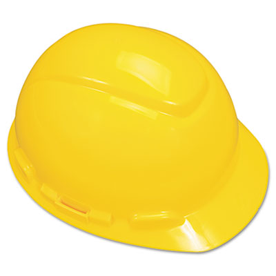 MMMH702R H-700 Series Hard Hat With 4 Point Ratchet Suspension, Yellow , Yellow
