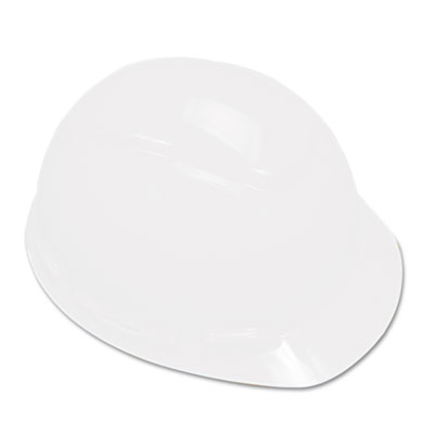 MMMH701R H-700 Series Hard Hat With 4 Point Ratchet Suspension, White , White