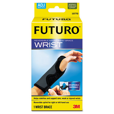 "Adjustable Reversible Splint Wrist Brace, Fits Wrists 5 1/2""- 8"