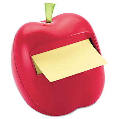 Apple Notes Dispenser for 3 x 3 Pads, Red