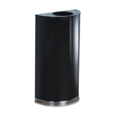 European & Metallic Series Open Top Receptacle, Half-Round, 12ga