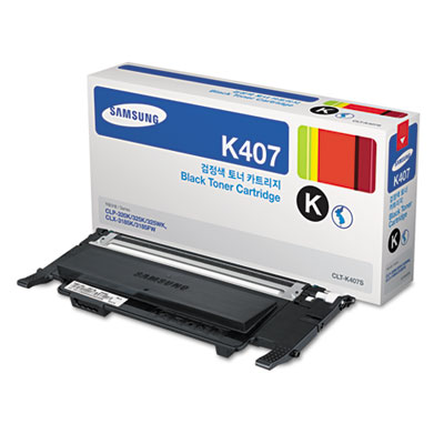 CLT-K407S (SU134A) Toner, 1500 Page-Yield, Black<br />91-SAS-SU134A