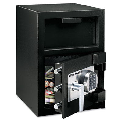 Depository Safe, 0.94 ft3, 14w x 16d x 20h, Black