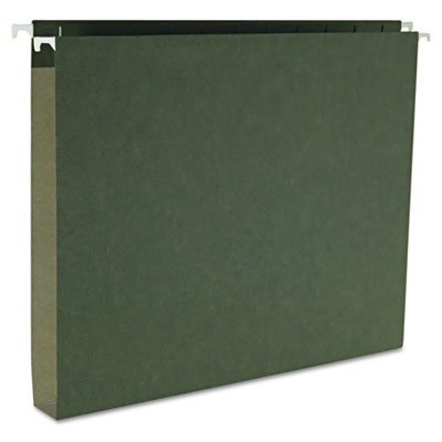 "1"" Capacity Box Bottom Hanging File Folders, Letter, Green, 25/B"