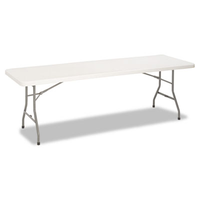 8 Foot Blow Molded Folding Table, 96w x 30d x 29-1/4h, White