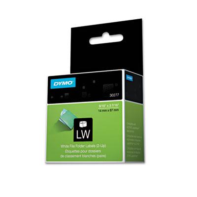 2-Up File Folder Labels, 9/16 x 3-7/16, White, 260/Pack