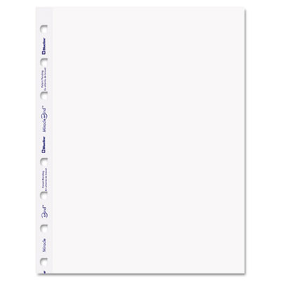 MiracleBind Notebook Plain Paper Refill, 9-1/4 x 7-1/4, White, 5