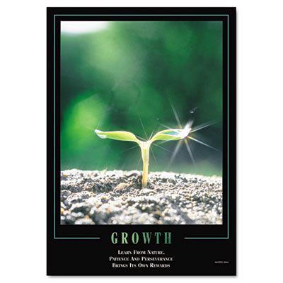 """Growth"" Framed Motivational Print, 24 x 30"
